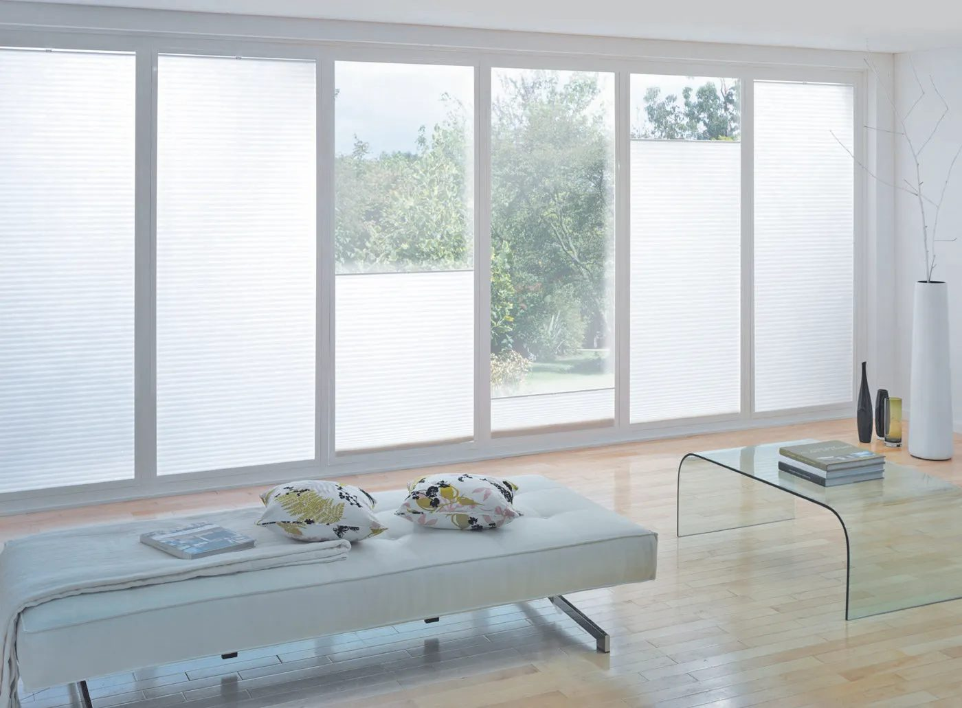 Perfect fit blinds - white